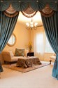 Picture of Blue Salon - Paris Salon Style Swag Valance Curtains