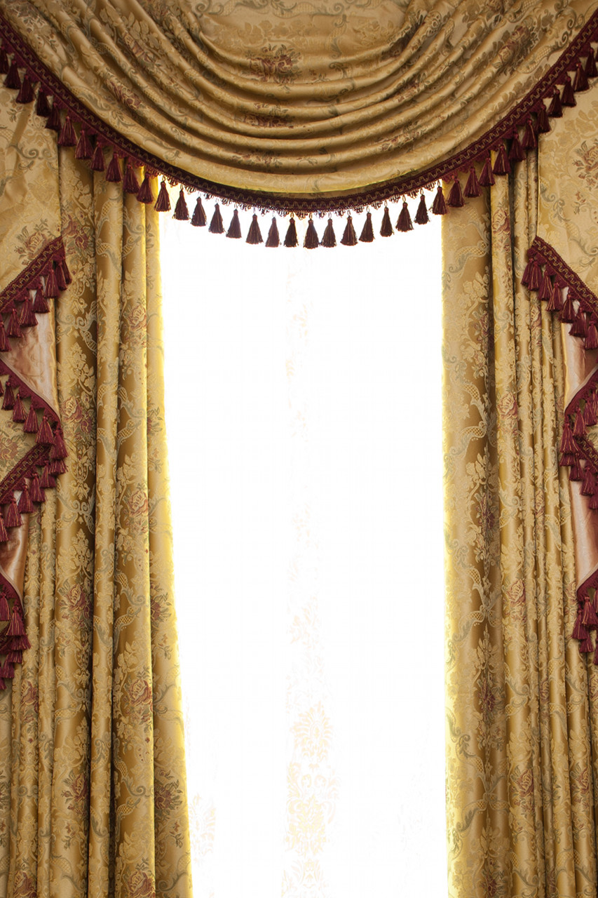 Custom order 133 versailles rose swag valances curtain for Celuce curtains