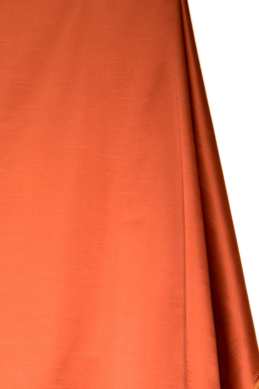 Faux Silk Taffeta Orange