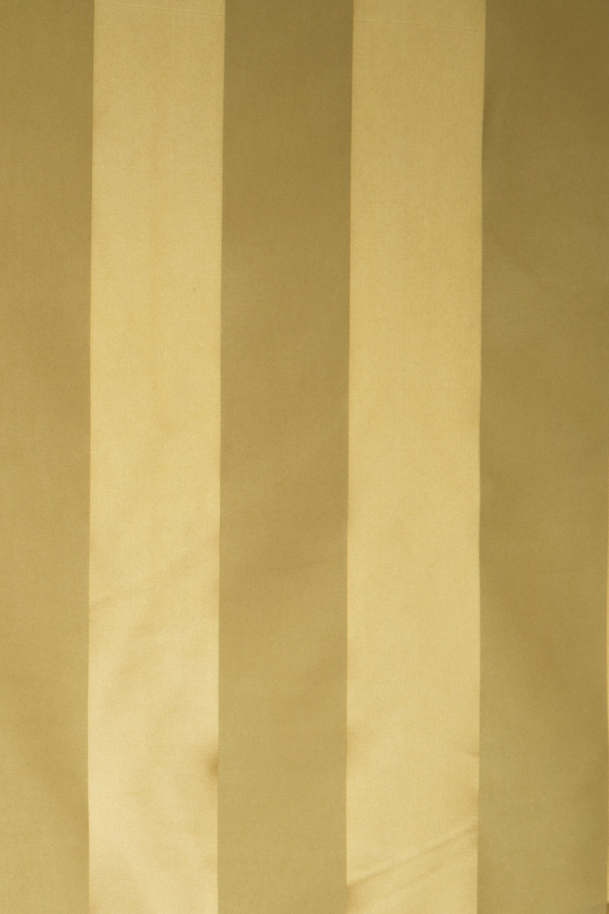 Stripe Faux Silk Gold And Yellow